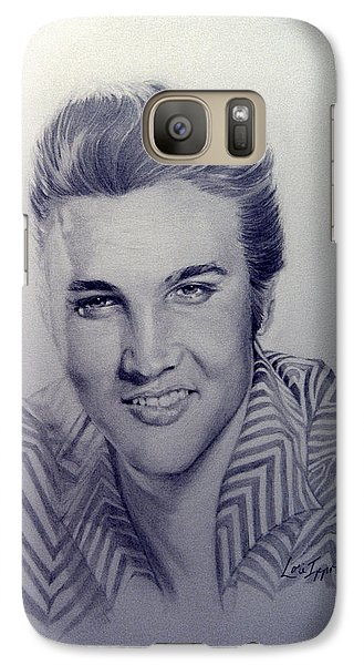 Galaxy Case featuring the drawing Elvis by Lori Ippolito