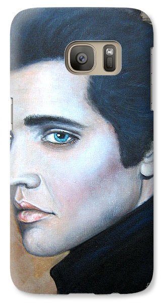 Galaxy Case featuring the painting Elvis by Patrice Torrillo