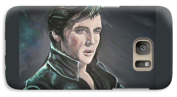 Galaxy Case featuring the mixed media Elvis by Peter Suhocke