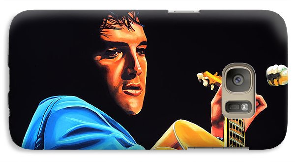 Rhythm And Blues Galaxy S7 Case - Elvis Presley 2 Painting by Paul Meijering