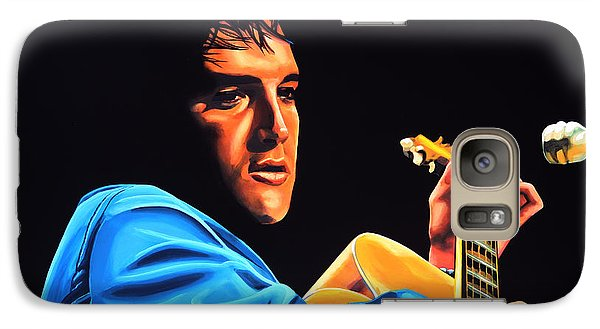 Elvis Presley 2 Painting Galaxy Case by Paul Meijering
