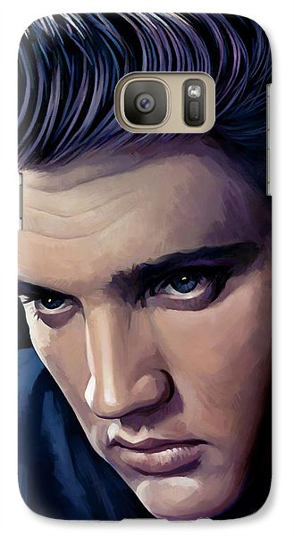 Elvis Presley Artwork 2 Galaxy Case by Sheraz A