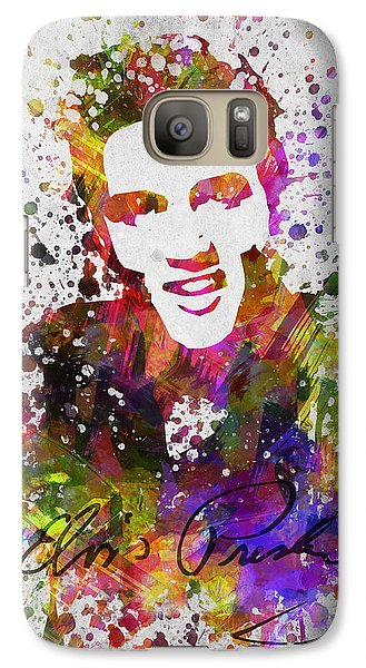 Elvis Presley In Color Galaxy Case by Aged Pixel