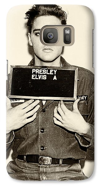 Elvis Presley Galaxy S7 Case - Elvis Presley - Mugshot by Bill Cannon