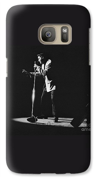 Elvis Presley On Stage In Detroit 1956 Galaxy S7 Case by The Harrington Collection