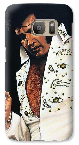 Realistic Galaxy S7 Case - Elvis Presley Painting by Paul Meijering
