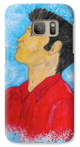 Galaxy Case featuring the painting Elvis Presley Singing by Kathy Marrs Chandler