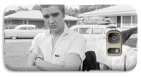 Elvis Presley With His Cadillacs 1956 Galaxy S7 Case by The Harrington Collection