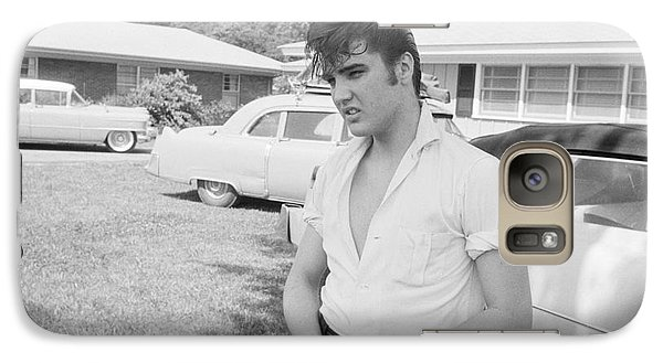 Elvis Presley With His Cadillacs Galaxy S7 Case by The Harrington Collection
