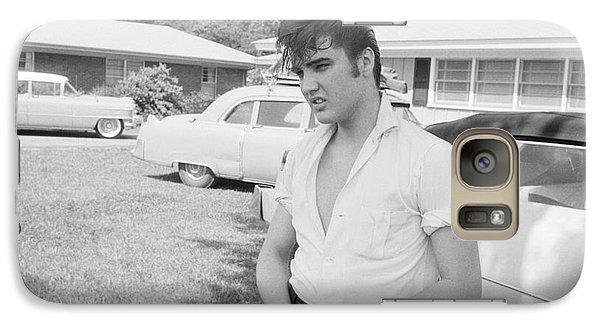 Elvis Presley Galaxy S7 Case - Elvis Presley With His Cadillacs by The Harrington Collection