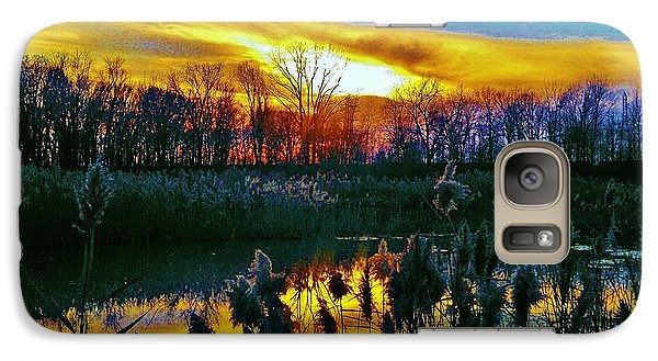 Galaxy Case featuring the photograph Emagin Sunset by Daniel Thompson