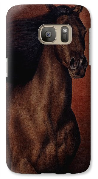 Galaxy Case featuring the painting Embers by Pat Erickson