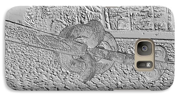 Galaxy Case featuring the photograph Embossed Chain by Michael Porchik