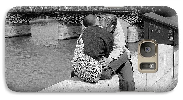 Galaxy Case featuring the photograph Embrace-paris by Dave Beckerman