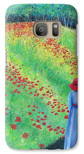 Galaxy Case featuring the painting Embracing The Moment by Susan DeLain