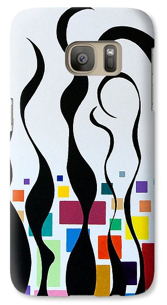 Galaxy Case featuring the painting Embracing by Thomas Gronowski