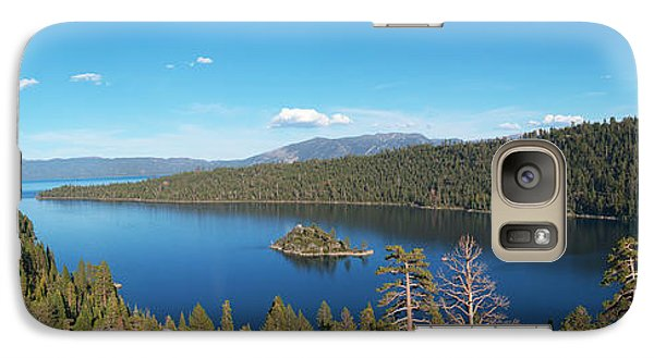 Galaxy Case featuring the photograph Emerald Bay Lake Tahoe Panorama by Paul Topp