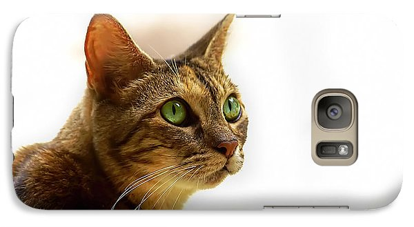 Galaxy Case featuring the photograph Emerald Eyes by Olga Hamilton