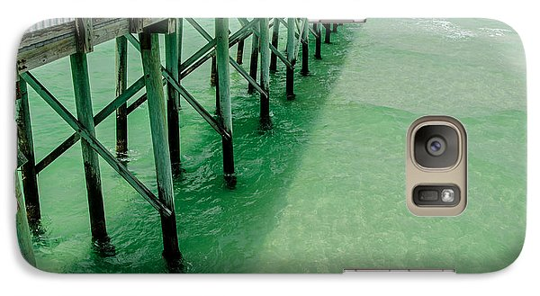 Galaxy Case featuring the photograph Emerald Green Tide  by Susan  McMenamin