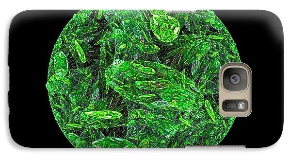 Galaxy Case featuring the digital art Emerald Moon by R Thomas Brass