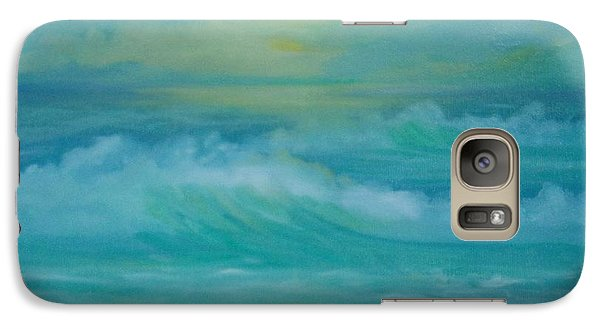 Galaxy Case featuring the painting Emerald Waves by Holly Martinson
