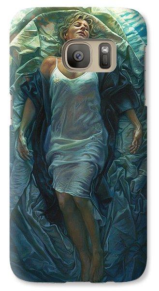 Surrealism Galaxy S7 Case - Emerge Painting by Mia Tavonatti