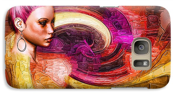Galaxy Case featuring the mixed media Emergence by Tyler Robbins