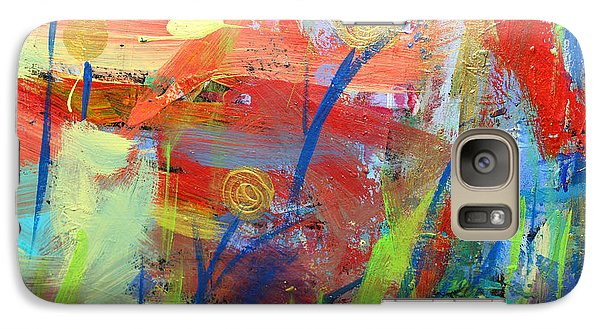 Galaxy Case featuring the painting Emerging Blooms by Stacey Zimmerman