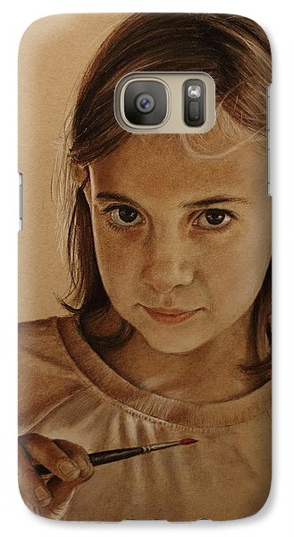 Galaxy Case featuring the painting Emerging Young Artist by Glenn Beasley