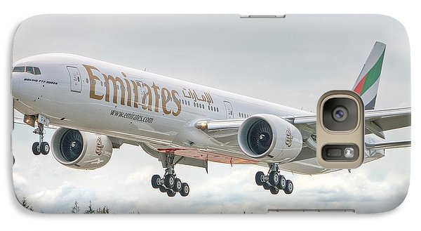 Galaxy Case featuring the photograph Emirates 777 by Jeff Cook