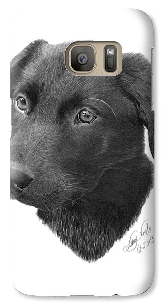 Galaxy Case featuring the drawing Emmy - 019 by Abbey Noelle