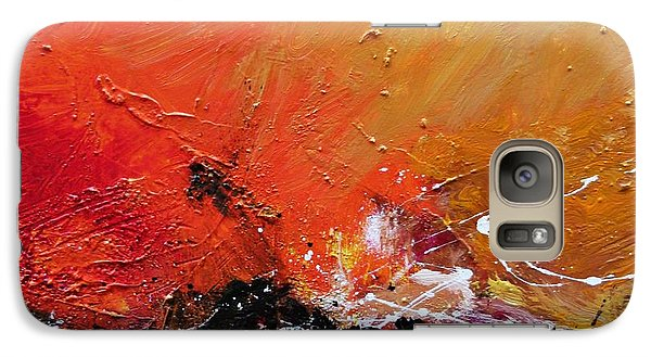 Galaxy Case featuring the painting Emotion 2 by Ismeta Gruenwald
