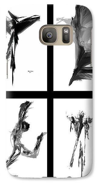 Emotions In Black - Abstract Quad Galaxy S7 Case