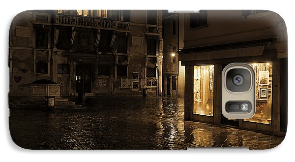 Galaxy Case featuring the photograph Winter's Night In Venice by Marion Galt