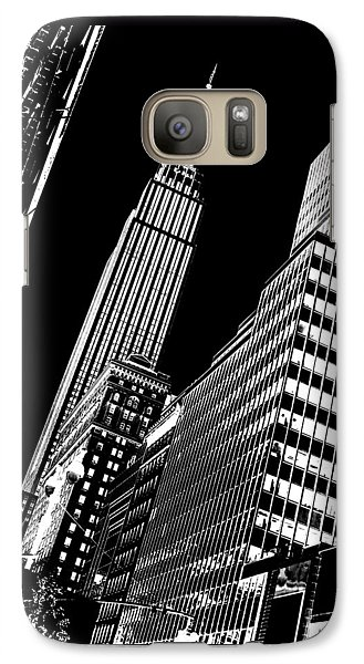 Empire State Building Galaxy S7 Case - Empire Perspective by Az Jackson