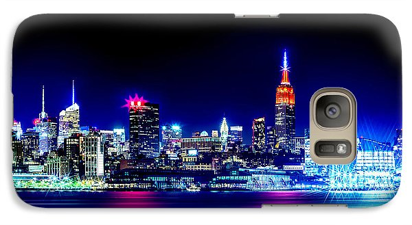 Empire State At Night Galaxy S7 Case by Az Jackson