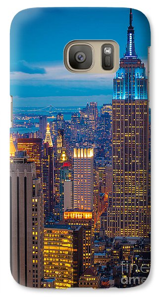 Empire State Blue Night Galaxy S7 Case