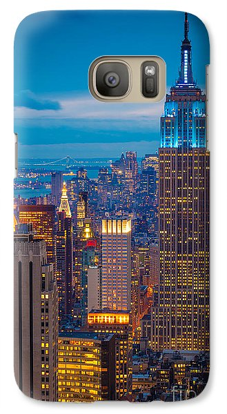 Empire State Blue Night Galaxy Case by Inge Johnsson