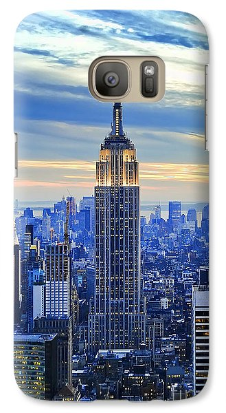 Empire State Building New York City Usa Galaxy S7 Case by Sabine Jacobs