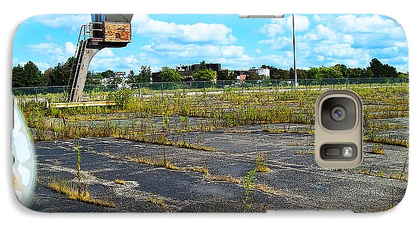 Galaxy Case featuring the photograph Employee Parking Lot by MJ Olsen