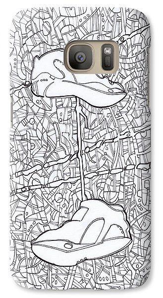Galaxy Case featuring the drawing Empty Soles by Michael Ciccotello
