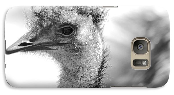 Emu - Black And White Galaxy S7 Case by Carol Groenen