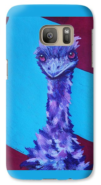 Galaxy Case featuring the painting Emu Eyes by Margaret Saheed