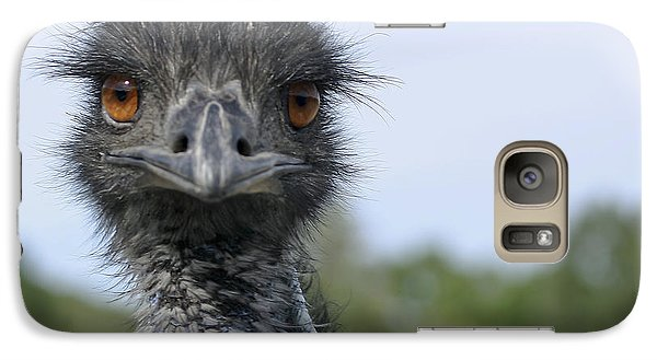 Galaxy Case featuring the photograph Emu Gaze by Belinda Greb