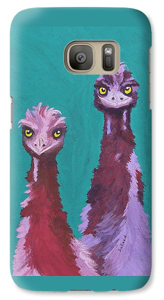 Galaxy Case featuring the painting Emu Watch by Margaret Saheed