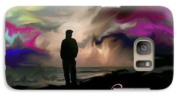 Galaxy Case featuring the digital art Emuna by Miriam Shaw