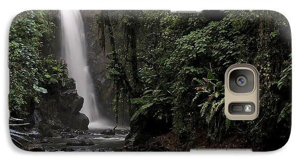 Galaxy Case featuring the photograph Encantada Waterfall Costa Rica by Teresa Zieba