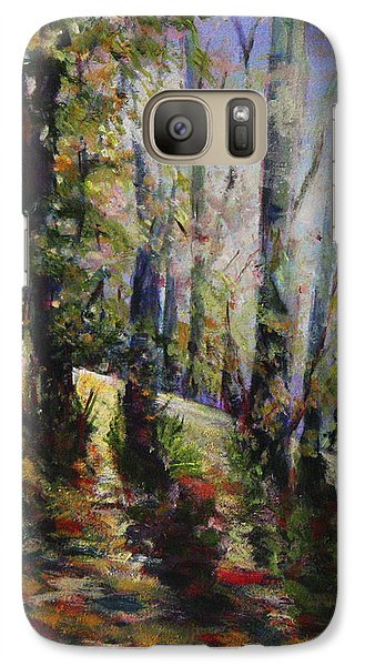 Galaxy Case featuring the painting Enchanted Forest by Sher Nasser