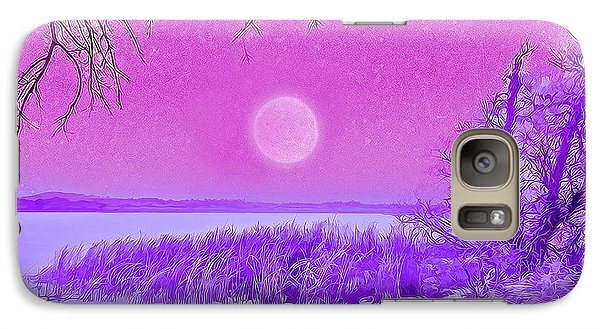 Rosy Hued Moonlit Lake - Boulder County Colorado Galaxy S7 Case by Joel Bruce Wallach
