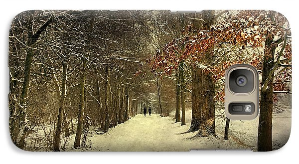 Galaxy Case featuring the photograph Enchanting Dutch Winter Landscape by Annie Snel